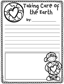 Taking Care of the Earth Writing Freebie