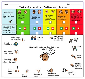Taking Charge! A Self-Guided Coping Chart