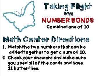 Taking Flight with Number Bonds Math Center