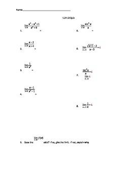 Taking Limits Algebraically Quiz