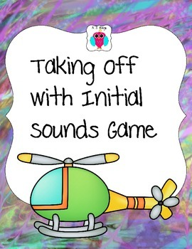 Taking Off With Initial Letter Sounds Game