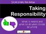 Social Skills Stories: Taking Responsibility