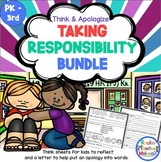 Taking Responsibility Bundle - Think Sheet and Apology Letter