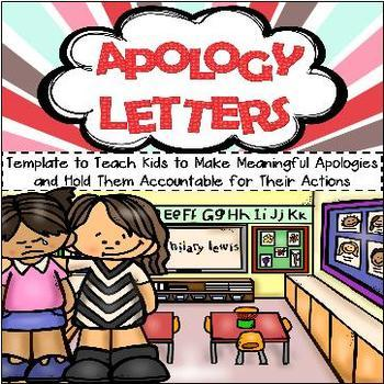 *Taking Responsibility Bundle - Think Sheet and Apology Letter