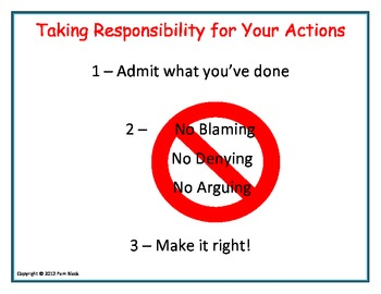 Taking Responsibility Poster