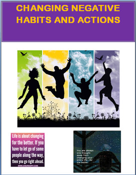 Changing Negative Habits and Actions- lesson, 2 activities