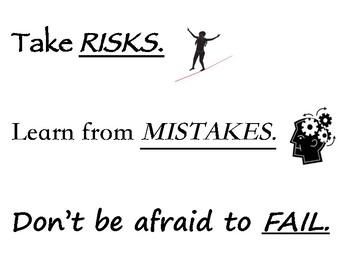 Taking Risks Poster