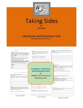 Taking Sides Complete Literature and Grammar Unit