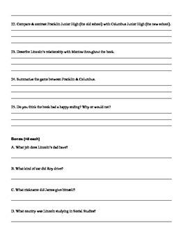 Taking Sides Quiz/Test