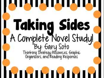 Taking Sides by Gary Soto - A Complete Novel Study!