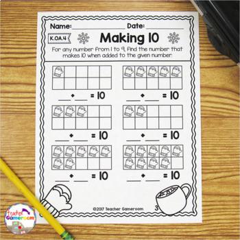 Making 10 Winter Worksheets