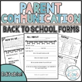 Back to School Forms | Parent Communication & Organization