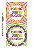 Taking Turns Bucket Labels for Clothespins