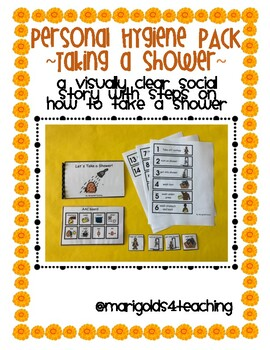 Taking a Shower Hygiene Social Story and Visuals for Students with Disabilities