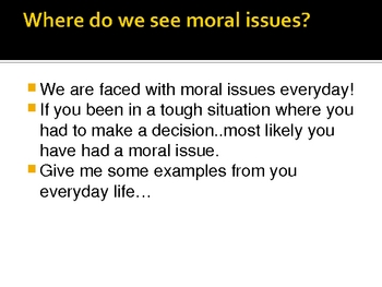 Taking a Stand: Moral issues