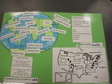 Taking a Trip Around the World:  Mapping the US and World  Features