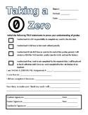 Taking a Zero