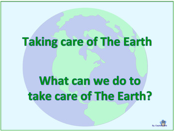 Taking care of our Earth