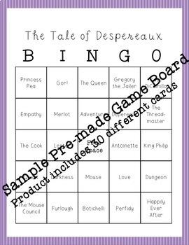 Tale of Despereaux BINGO