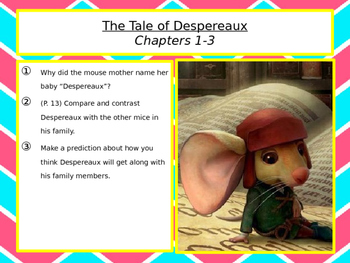 Tale of Despereaux: Book the First PPT