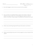Tale of Despereaux Comprehension Questions and Activities