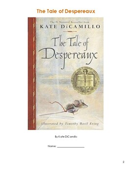 Tale of Despereaux: Guided Reading packet Chapters 1-17