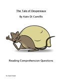 The Tale of Despereaux Reading Comprehension Questions and Test