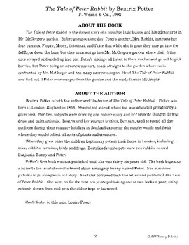 Tale of Peter Rabbit Literature Guide