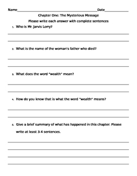 Tale of Two Cities Comprehension Packet