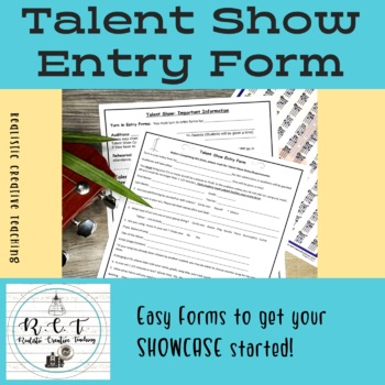 Talent Show Entry Form and Information