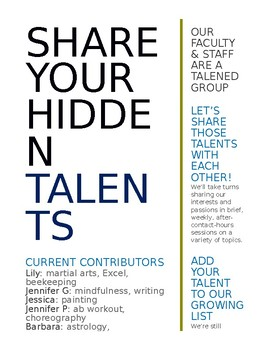 Talent Show Flyer: Faculty/Staff
