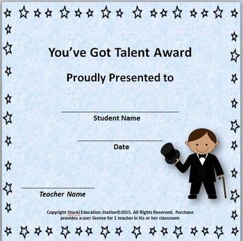 Talent Show {Freebie}