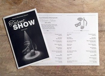 Talent Show Program - up to 18 acts