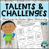 Talents and Challenges Coloring Freebie