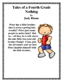 Tales Of A Fourth Grade Nothing Book Report Lapbook