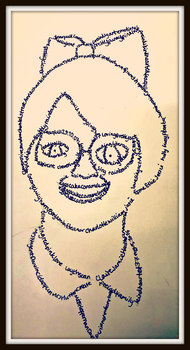 Micrography Portraits -  ALL ABOUT ME - COMPLETE ART LESSON