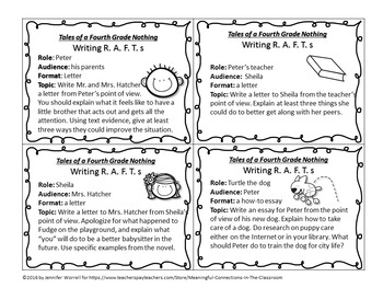 Tales of A Fourth Grade Nothing Task Cards