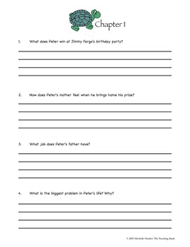 Tales of a 4th Grade Nothing Comprehension Packet