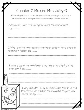 Tales of a 4th Grade Nothing Novel Study