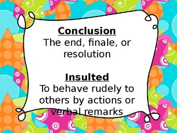 Tales of a 4th Grade Nothing Vocab PPT