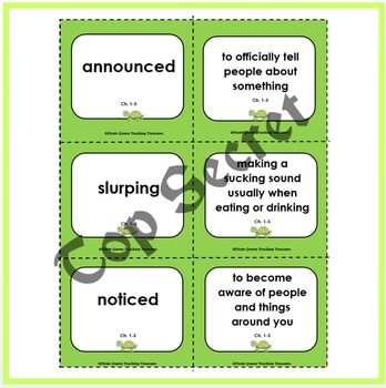 Tales of a 4th Grade Nothing: Vocabulary Games/Common Core Aligned