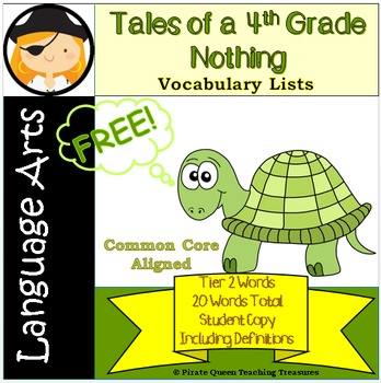 Tales of a 4th Grade Nothing: Vocabulary Lists