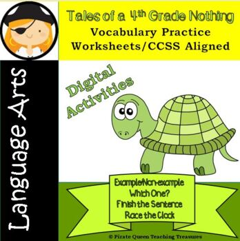 Tales Of A 4th Grade Nothing Vocabulary Practice Worksheetscommon