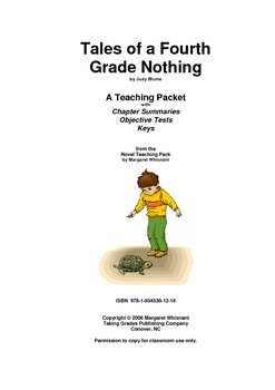 Tales of a Fourth Grade. . . Chapter Summaries/Objective Tests