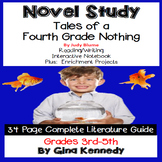 Tales of a Fourth Grade Nothing Novel Study & Project Menu; Plus Digital Option