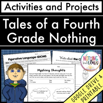 Tales of a Fourth Grade Nothing: Reading Response Activiti