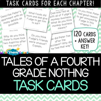 Tales of a Fourth Grade Nothing Activity (Task Cards)