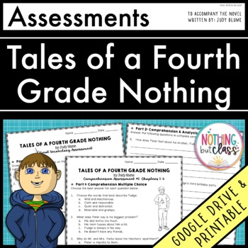 Tales of a Fourth Grade Nothing: Tests, Quizzes, Assessments