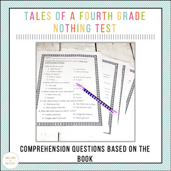 Tales of a Fourth Grade Nothing Book Test