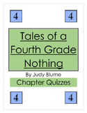 Tales of a Fourth Grade Nothing Chapter Quizzes